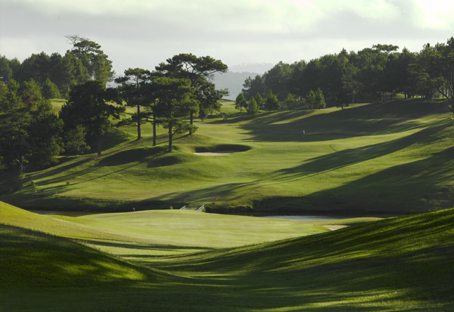The beautiful par-4 10th hole at historic Dalat Palace Golf Club.